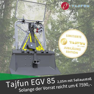 Tajfun Seilwinden Jubiläumsaktion EGV 85