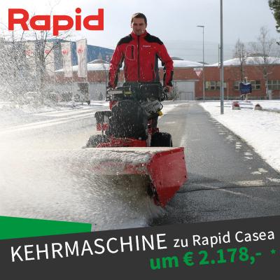 Rapid Casea Kehrmaschine Angebot Winteraktion