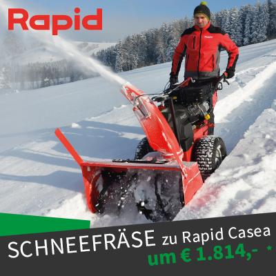 Rapid Casea Schneefräse Angebot Winteraktion